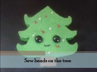 Christmas : How to make a kawaii Christmas Tree Plushie Tutorial