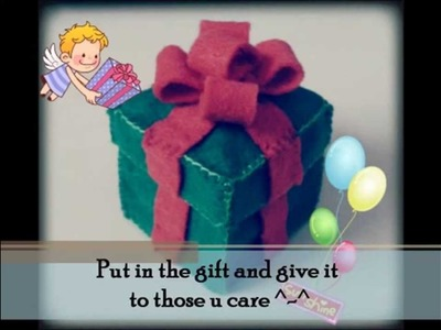 Christmas : How to make a Present Box Tutorial
