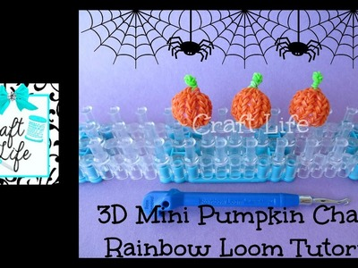 Craft Life 3D Mini Pumpkin Charm Tutorial on One Rainbow Loom ~ Halloween