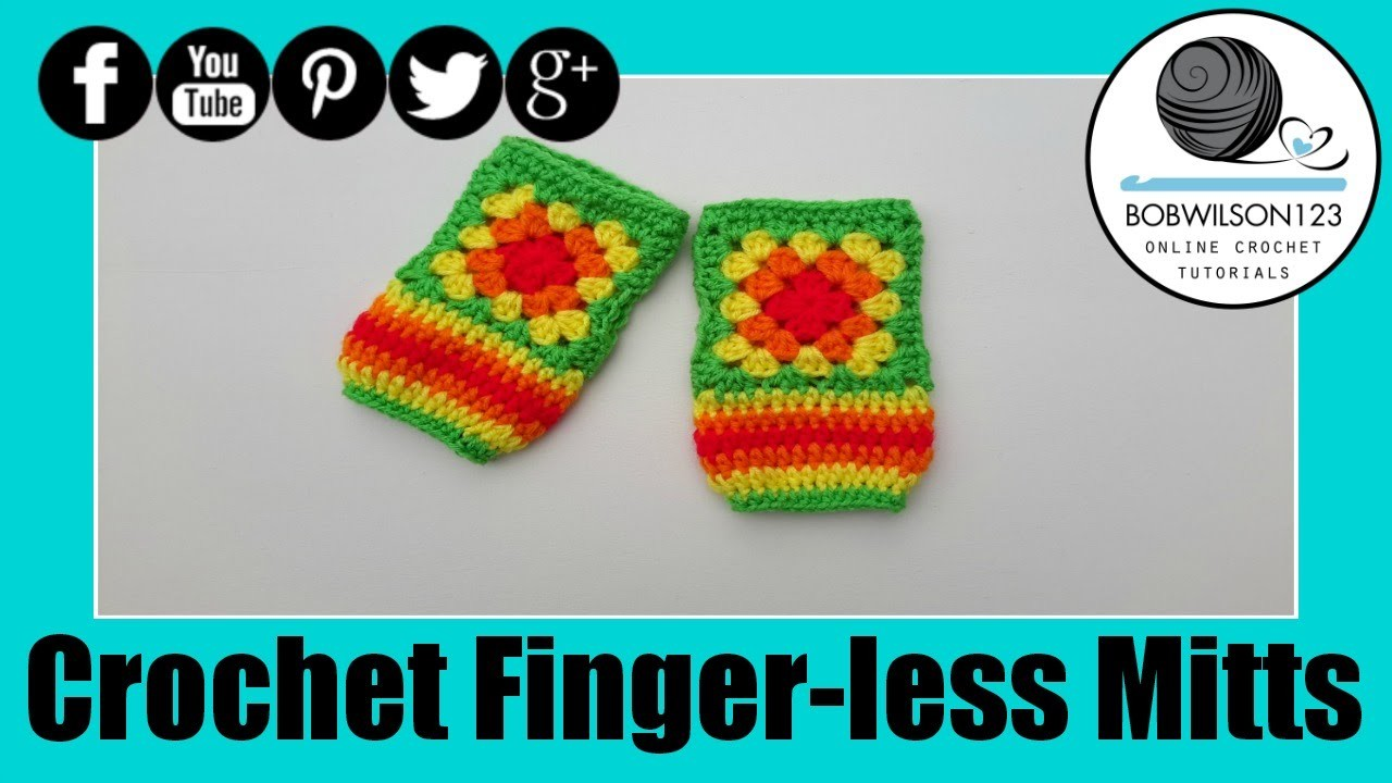 Crochet Granny Square Finger less Gloves