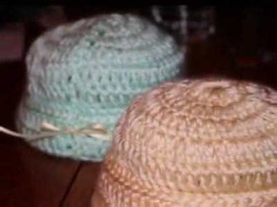 Crochet hats, blankets, booties, dresses. and more