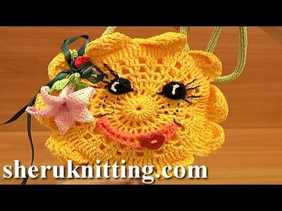 Crochet Sun Purse For Kids Tutorial 9 Part 1 of 2 Free Crochet Purse Pattern