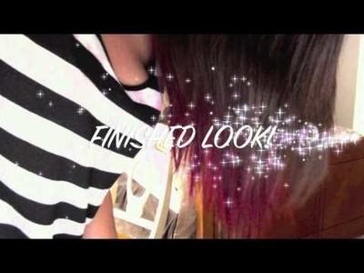 DIY- Dip Dyed Hair With Kool Aid!