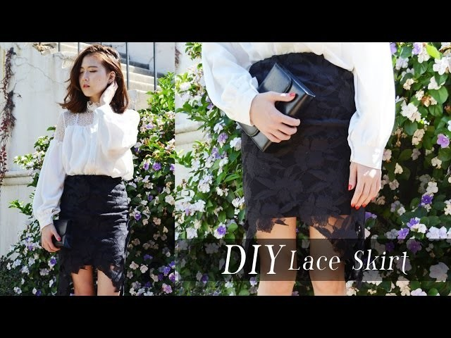 DIY Lace Cutout Skirt