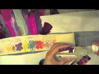 DIY mixed media fabric party crown tutorial