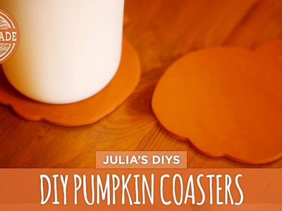 DIY Pumpkin Coasters - HGTV Handmade