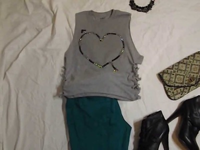 DIY T-shirt: Design Your Own TShirt. Fashion Styling DIY Tutorial (How to Style a Tshirt)