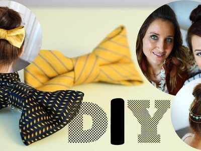 DIY Ties to Bows & Necklace Hair Accessory Feat. CuteGirlsHairStyles