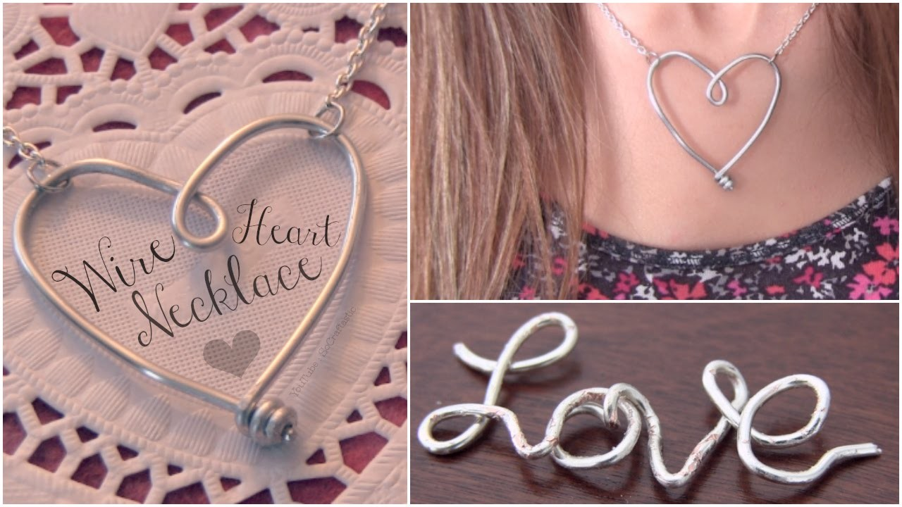 DIY Wire Heart Necklace Pendant - Name Jewelry How To