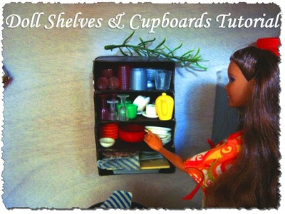 Doll House Kitchen Shelves & Cupboards Tutorial