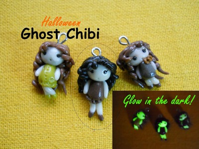 Halloween DIY: Cute Ghost Chibi ~ Chibi Fantasma ✺ Glow in the Dark! ✺ (Polymer Clay Tutorial)