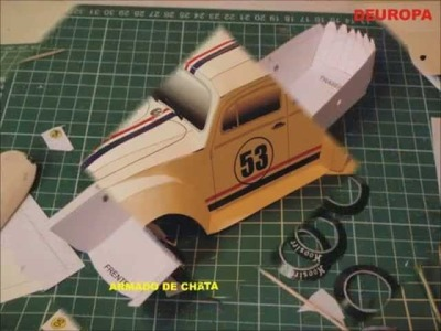 Herbie CUPIDO MOTORIZADO SPLIT WINDOW VW BUG papercraft.wmv