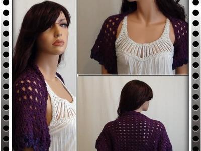 How to Crochet a Shrug - Bolero Pattern #1 by ThePatterfamily