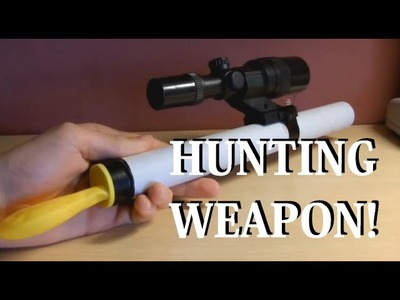 How to make a homemade small hunting weapon
