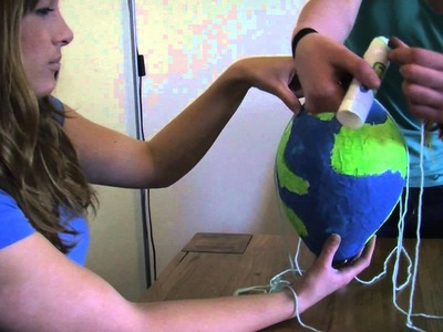 How to: make a paper mache hot air balloon