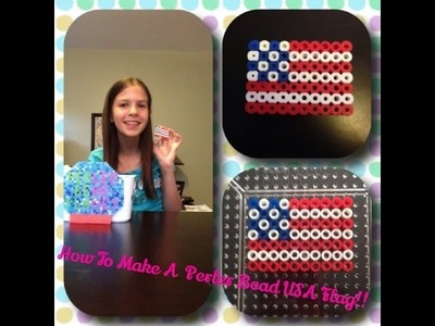 How To Make A Perler Bead USA Flag!
