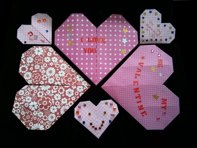 How to Make an Easy Origami Heart for Valentine's Day (difficulty 2.10) by Origami for Kids