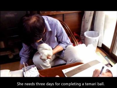 Japanese handmade craft : Temari ball (Continued)