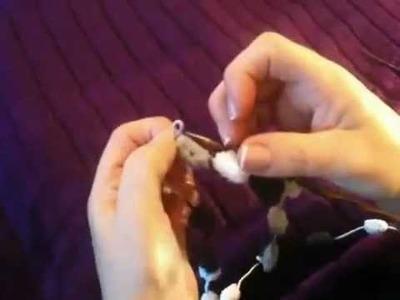 Knitting with pom pom yarn