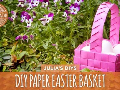 Last Minute Woven Paper Easter Basket - HGTV Handmade