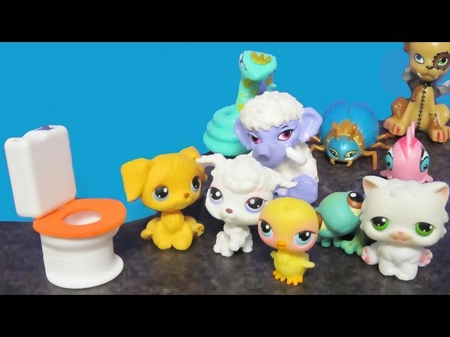Make a toilet  for Littlest Pet Shop dolls - Recycling - Doll Crafts