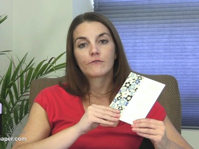 Make Modern Pocket Card Invitations With Designer Papers