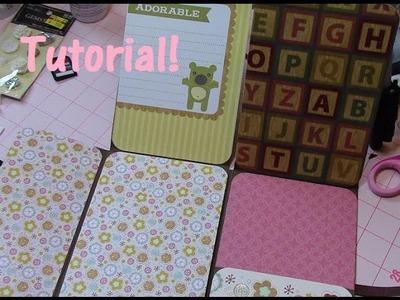 Mini Album Folio from One 12x12 Paper Tutorial! (for 4x6 pics)!!!