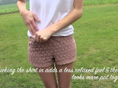 OOTD - Crochet Shorts & White Tee *Summer 2012*