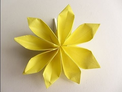 Origami 8 Petal Flower Version 2
