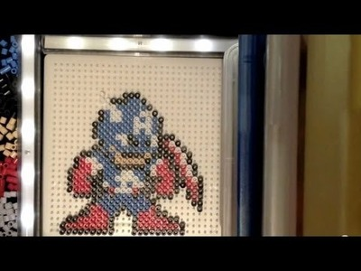Perler Beads Tutorial: The Avengers Series (Captain America)