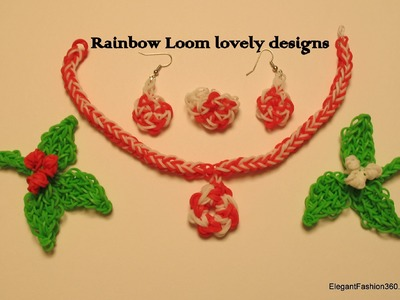 Rainbow Loom Necklace Matching set jewelry