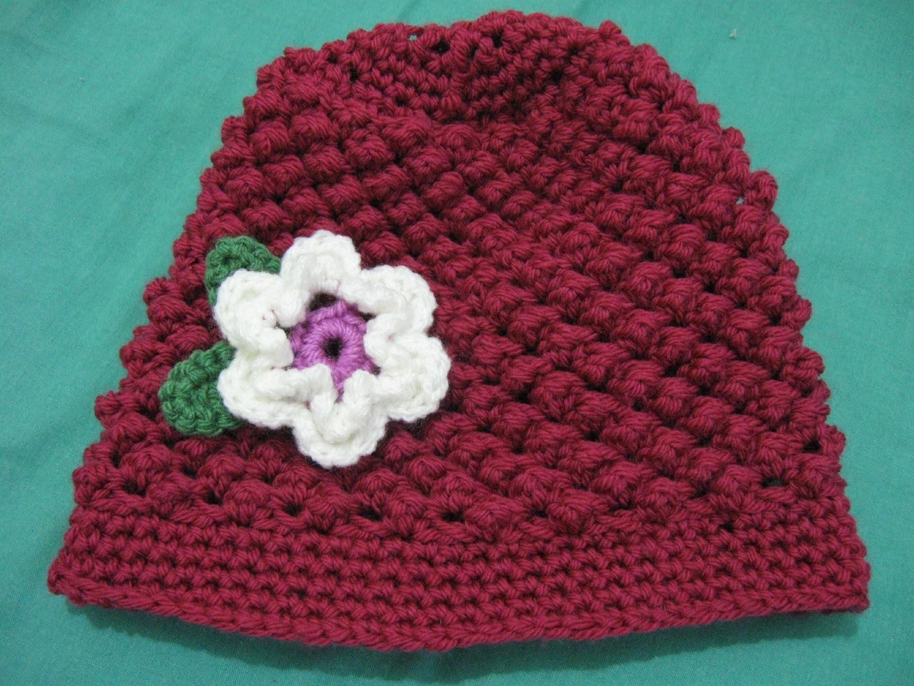 Raspberry Stitch Beanie - Crochet Tutorial