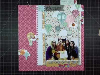 "Scrapbook Layout: Just One of the Girls, 12""x12"""