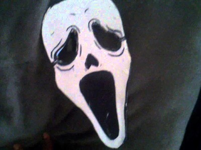 Scream mask in arts and crafts