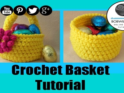 Spring Basket Crochet Tutorial