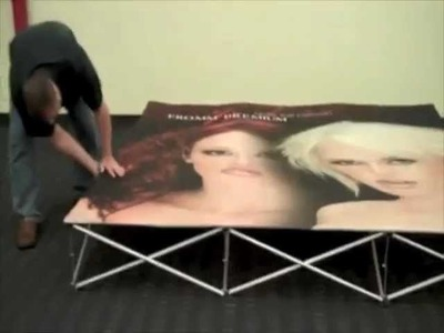VBURST Fabric Pop up Display Set-Up by www.youhuge.com