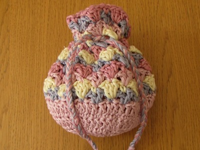 VERY EASY crochet drawstring bag tutorial - crochet purse for beginners