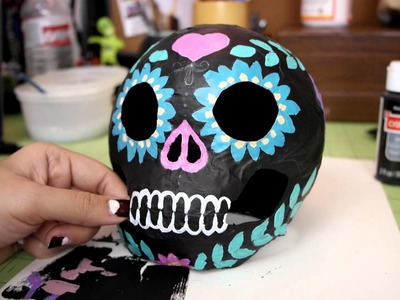 Watch Me Make: Decorating Paper Mache Halloween Things