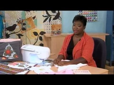 407-2 Sheree Schattenmann creates a simple baby blanket and bib on It's Sew Easy