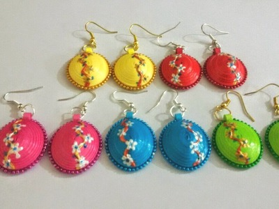 48. Floral 3D Quilling Earrings Tutorial