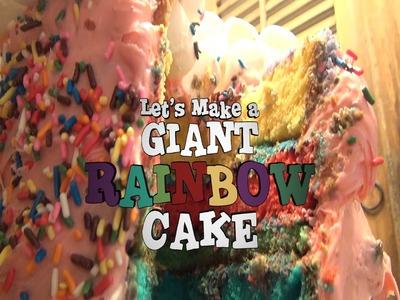 Amazing Giant Rainbow Cake by Simple. Foodie. Fun TV