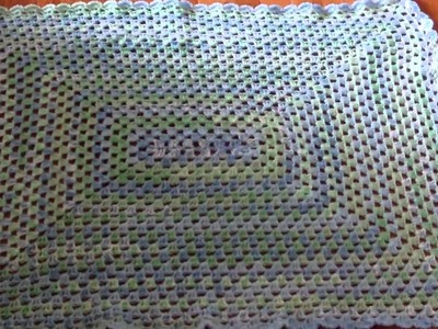 Completed Rectangle Granny Baby Blanket