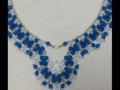 Crystal Diamonds Necklace Tutorial
