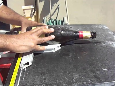 Cutting a wine bottle with the Apollo Ring Saw