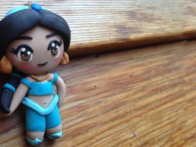 Disney Princess Jasmine Polymer Clay Tutorial. Arcilla Polimérica