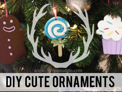 DIY Cute Polymer Clay Christmas Ornaments | ANNEORSHINE