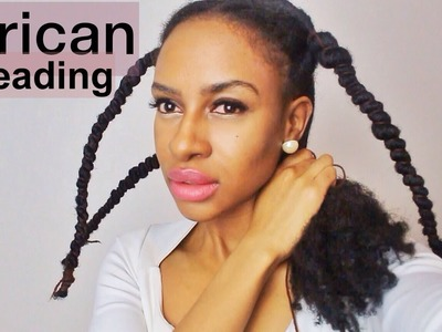 Doing African Threading For Hair Growth & Retention || HAIR