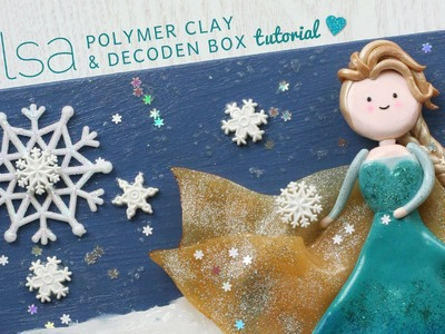 Elsa Polymer Clay Decoden Box Tutorial