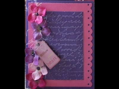 Flowery Girl's Handmade Card With Stickles