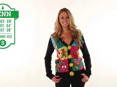 Funny Christmas Sweater - Ugly Patchwork Cardigan by Tipsy Elves